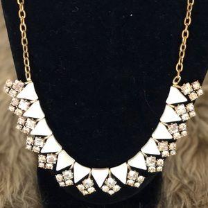 Stunning J Crew Crystal & Ceramic Necklace!